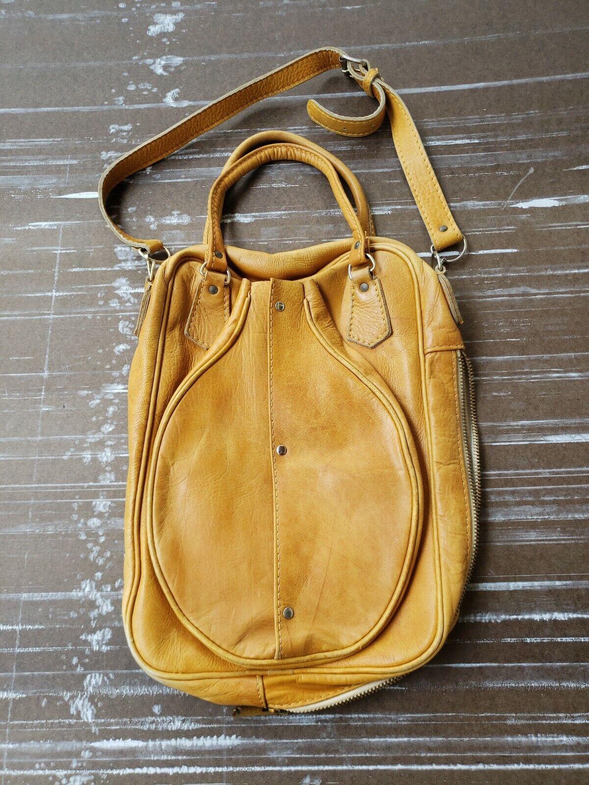 Vintage Mesace Leather Tennis Travel Bag