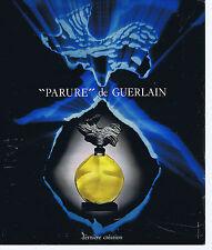 """PUBLICITE ADVERTISING 094 1975 """"Parure"""" de GUERLAIN"""