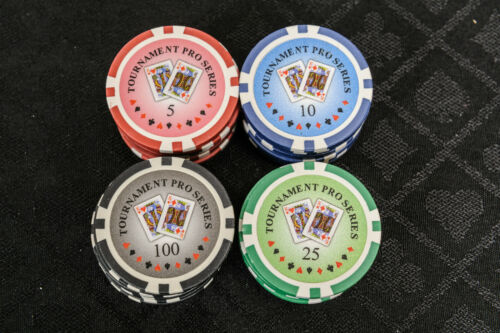 1000 Piece Numbered Poker Set in Low Numbers Tournament Poker Chips