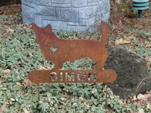 Welsh Corgi Garden Plaque PET MEMORIAL Yard Stake Personalized Dog Canine