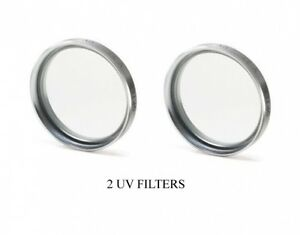 2 UV Filters for Sanyo VPCHD1000EX Sanyo VPCHD1000GX Sanyo VPC-HD1010GX Sanyo VPCHD1000 Sanyo VPCHD1010