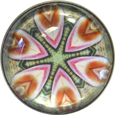 Colorful Crystal Dome Button Kaleidoscope 1 inch K 34 FREE US SHIPPING