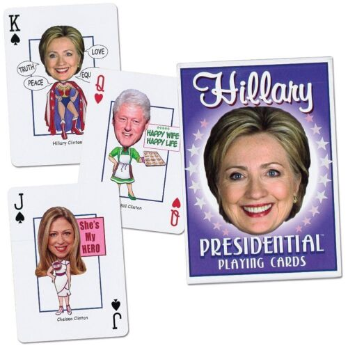 Hillary Clinton Presidential Playing Cards Political Candidate  Made USA 2016