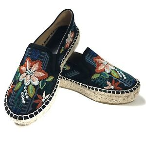 NEW-Johnny-Was-Floral-Embroidered-1-5-034-Espadrilles-Shoes-Size-36-US-6-NWOB