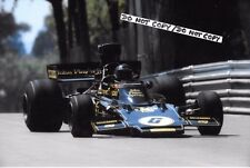 9x6 Photograph Jacky Ickx , F1 Lotus 72E  Spanish GP  Montjuich Park 1975