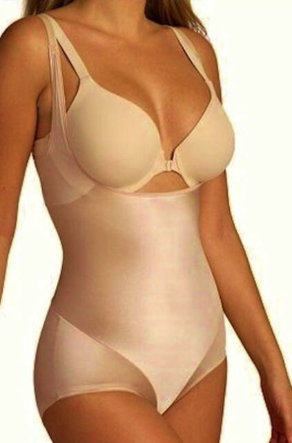 NAOMI NICOLE Nude Smooth Away Comfortable Torsette Bodybriefer Womens Sz S M 2XL