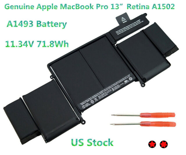 """NEW Genuine Battery A1493 for Macbook Pro 13"""" Retina A1502 Late 2013 Mid 2014"""