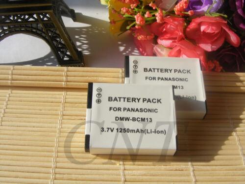 Batería para Panasonic DMW-BCM13 Lumix DMC-FT5 TZ41 TZ58 TZ61 TZ71 ZS30//Cargador