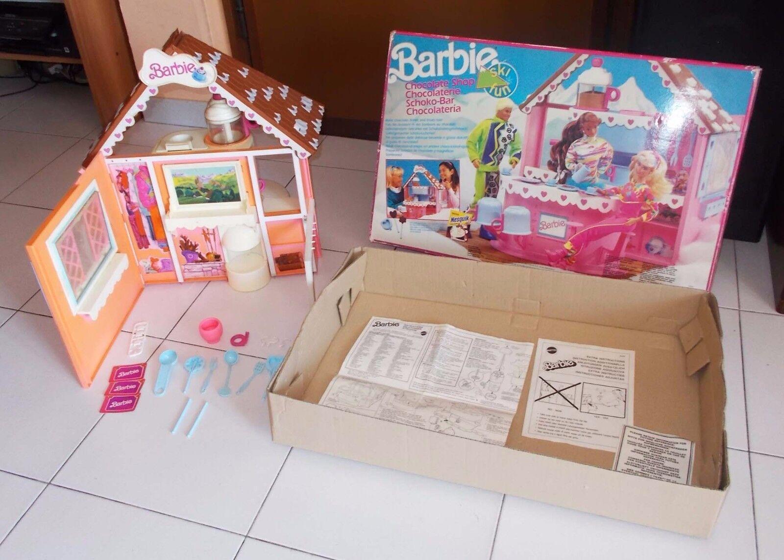 Barbie ski fun Schokolade Shop Schoko-Laden Mattel 1990 art 9698 Chocolaterie    Ruf zuerst