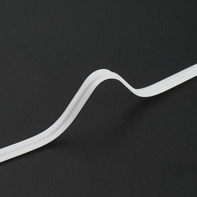100pcs PE Plastic Bendable Wires Flexible Twist Ties Single Core White 100x3mm