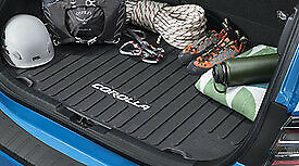 Black Genuine Toyota PT908-02145 OEM 2014-2019 Corolla Cargo Tray Rubber Mat