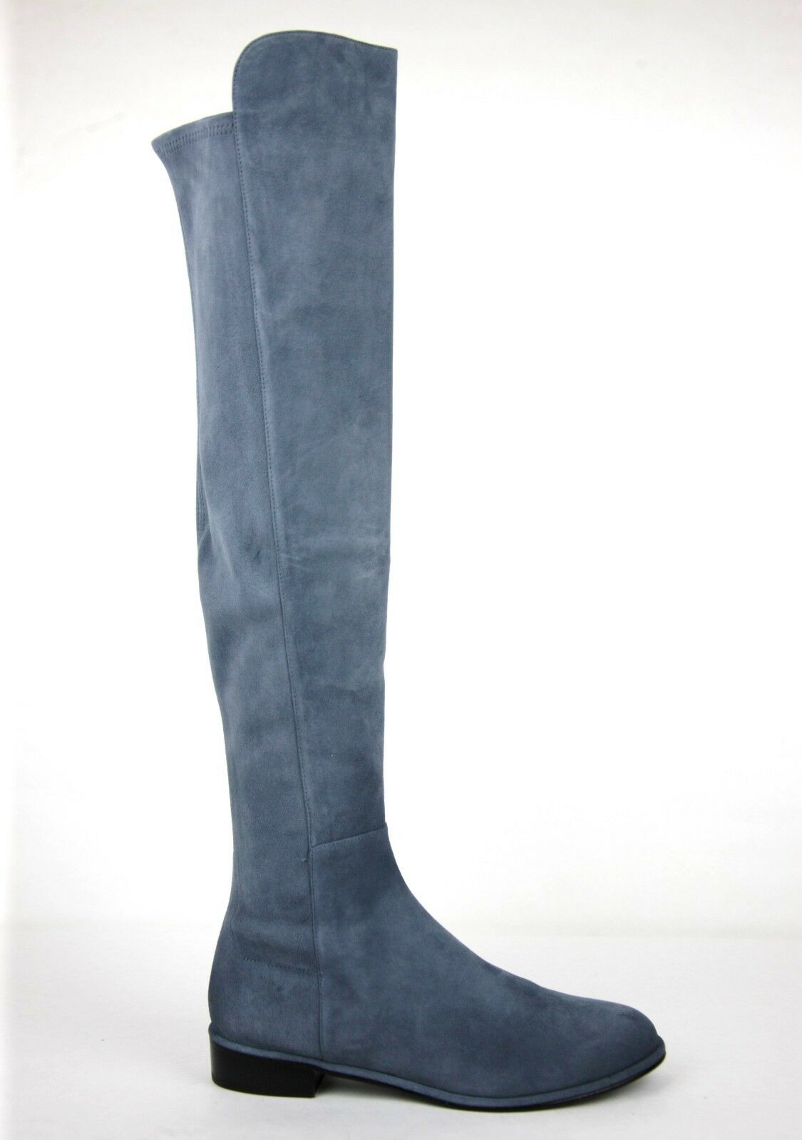 765 New Stuart Weitzman Denim Suede Allgood Allgood Allgood Low Heel Knee Stiefel 2249c1