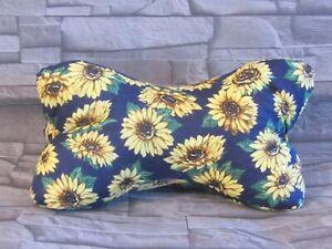 Modell-Sonnenblumen-Leseknochen-Nackenkissen-Stuetzkissen-Reisekissen-Neck-Pillow