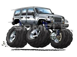 Jeep Wrangler Unlimited JKU Cartoon Tshirt GA JK Off Road - Jeep t shirt design