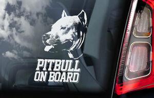 Pitbull-On-Board-Auto-Adesivo-per-Finestre-Fossa-Bull-Terrier-Cane-Firmare