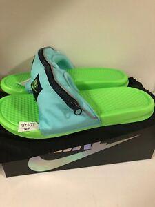 56627116686cc3 Nike Benassi JDI Fanny Pack Aurora Green Slippers Slides Flip Flops ...