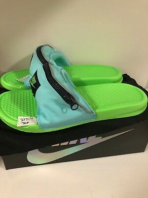 Fecha roja Circunstancias imprevistas Unir  Nike Benassi JDI Fanny Pack Aurora Green Slippers Slides Flip Flops  AO1037-300 | eBay