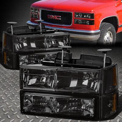For 88-93 Chevy C//K Pickup Suburban Chrome Housing Headlight Bumper Corner Lamps