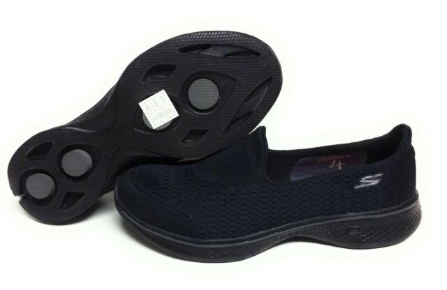 Skechers Performance Women's Go Walk 4 Pursuit Walking Shoe, Black 8 B(M) US