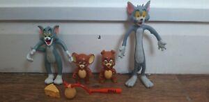 Tom-y-Jerry-Vintage-Figuras-1980s-Juguetes-Lote-de-Trabajo-Hanna-Barbera-Cartoons-Raro