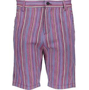 LOVE-MOSCHINO-Mens-Purple-Stripe-Shorts-Size-W33