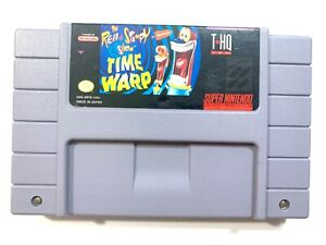 Ren-amp-Stimpy-Show-Time-Warp-SUPER-NINTENDO-SNES-Game-Tested-Working-Authentic