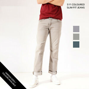 COLOURED-LEVIS-511-SLIM-STRAIGHT-LEG-JEANS-DENIM-GRADE-A-W30-W32-W34-W36-W38-W40