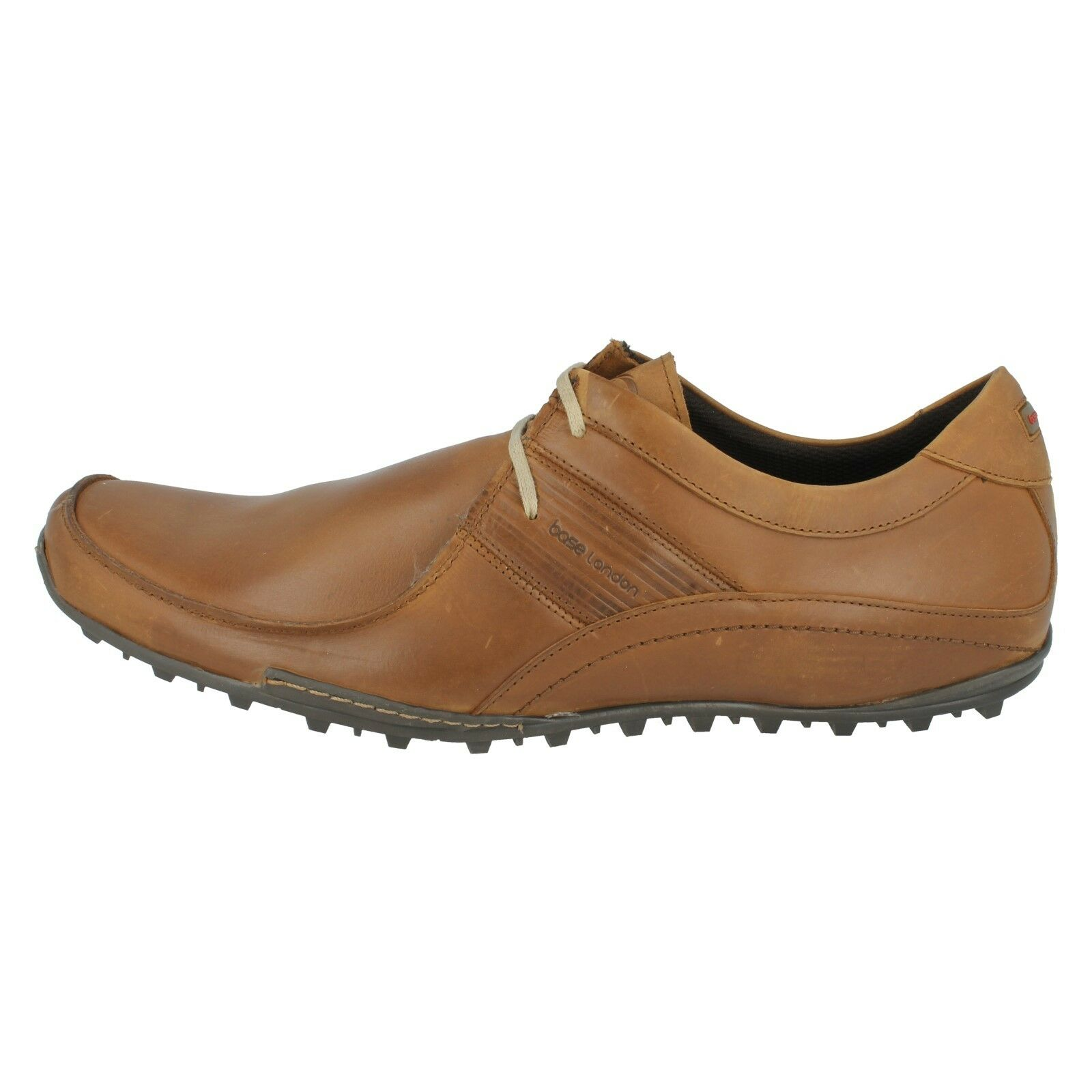 Uomo CASUAL BASE LONDON SPRING EXCEL CASUAL Uomo WAXY BLACK TAN LEATHER LACE UP SHOES f81ddc