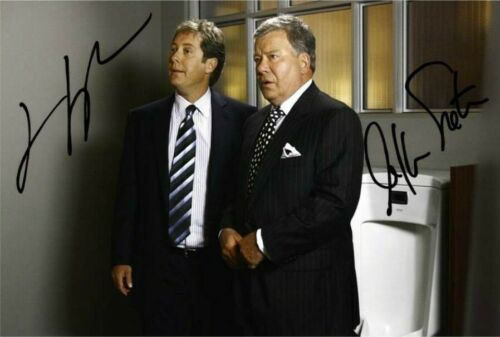 "WILLIAM SHATNER /& JAMES SPADER BOSTON LEGAL Signed Autograph PRINT 6x4/"" GIFT"