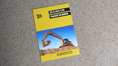 Qualified Jcb Js 240l/s/nl Tracked Hydraulic Excavator Brochure 9999/4486 4/99 Circa 1999 Pretty And Colorful Tractor Manuals & Publications
