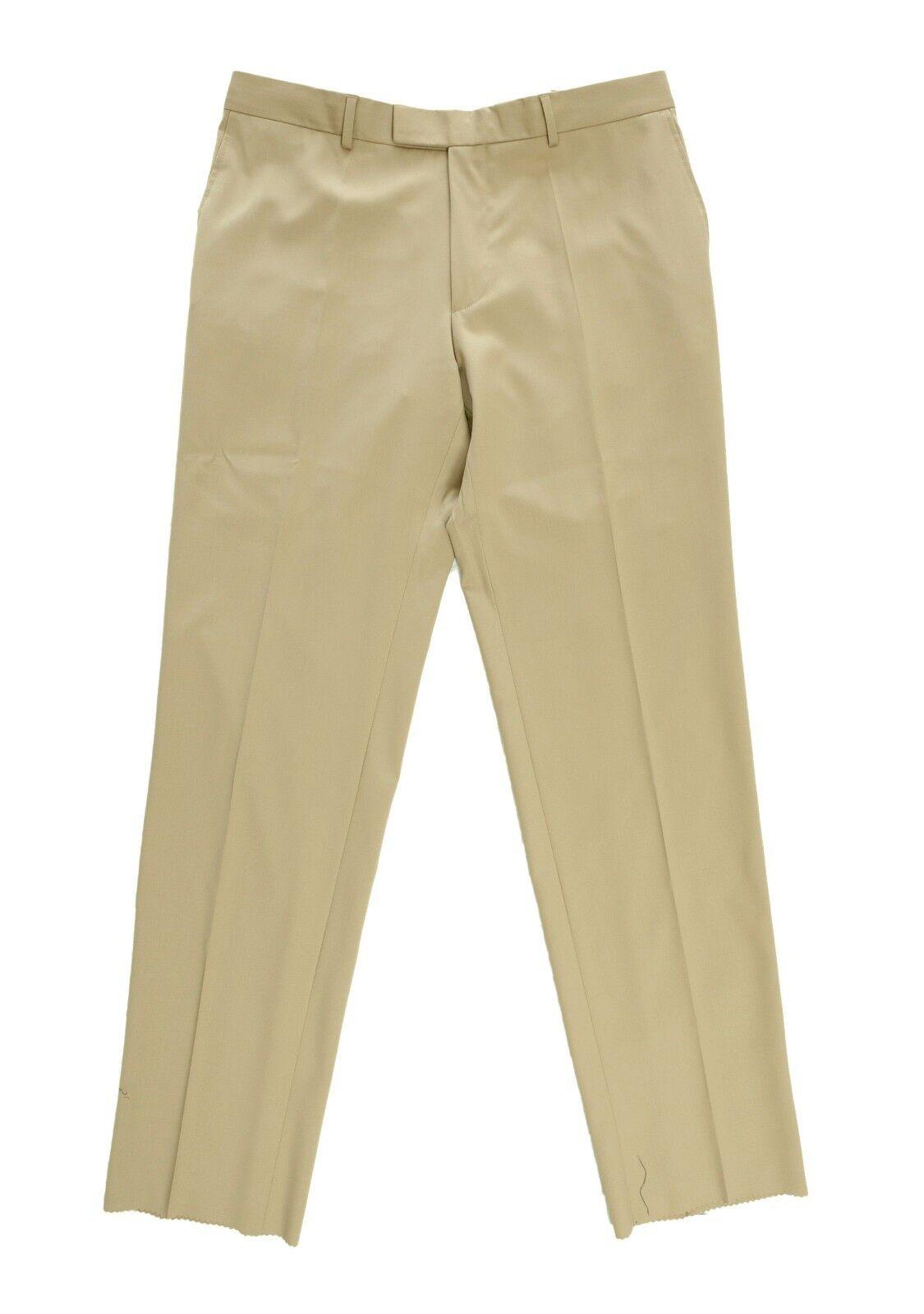 Hugo Boss James Brown US Beige Flat Front Classic Fit Pants 30W Turkey