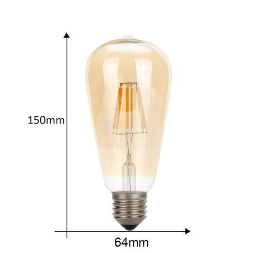 ST64 E27 4W Vintage Edison LED Retro Industrial Classic Filament Light Lamp Bulb