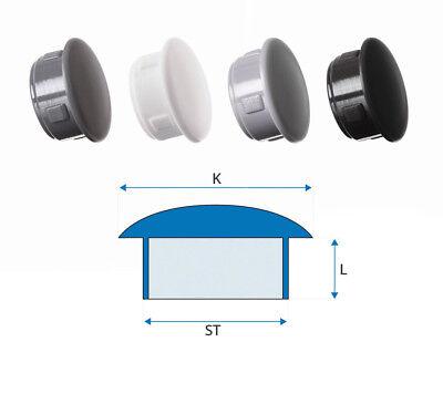 25 Stck Abdeckstopfen 10x6 mm Schwarz Blindstopfen Kunststoff Verschlusskappe
