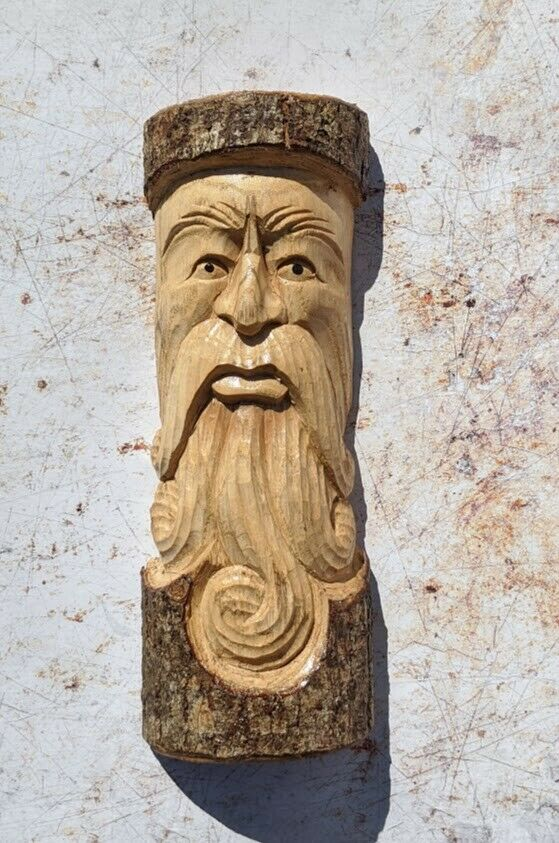 Green Man of the Woods Wall Hanging Tree Trunk wood man ENT LOTR 30cm
