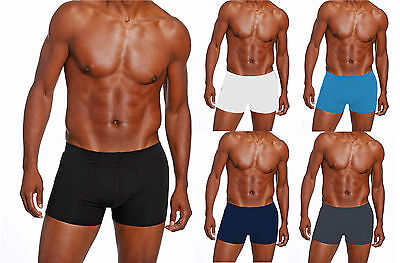 "5 x Mens Angelo Litrico Black or Assorted Boxer Shorts Sizes from 30-42"" Cotton"