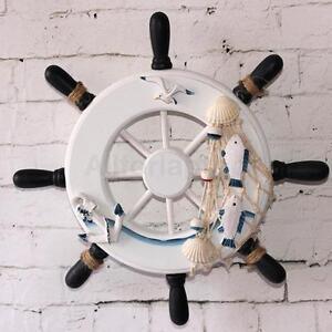 9inch Maritim Deko Holz Steuerrad Schiff Haus Wand Dekor #1