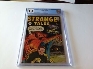 STRANGE-TALES-91-CGC-5-5-THE-END-OF-MANKIND-THE-SACRIFICE-KIRBY-MARVEL-COMICS