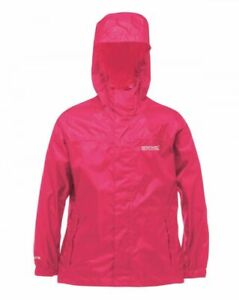 Regatta Packaway Kids Girls Lightweight Hooded Waterproof Jacket Coat RRP £25