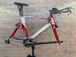 2009-Cervelo-P2C-road-time-trial-Bike-size-56c-No-Wheels-Carbon-TT-Bicycle