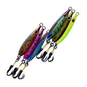 "Mustad hooks Kevlar rope 6-pack Flat Fall Iron Vertical /""Smoker/"" Jig"