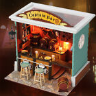Wooden Miniature dolls house Doll house furniture DIY Kit/Light- Captain Bar