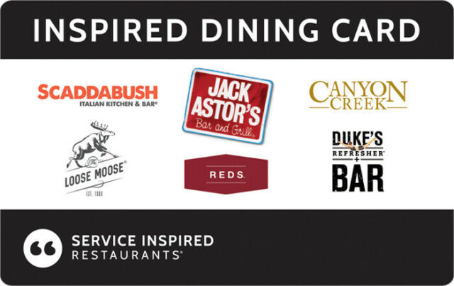 $50 Gift Card for 6 Different Restaurants and Bars in Canada