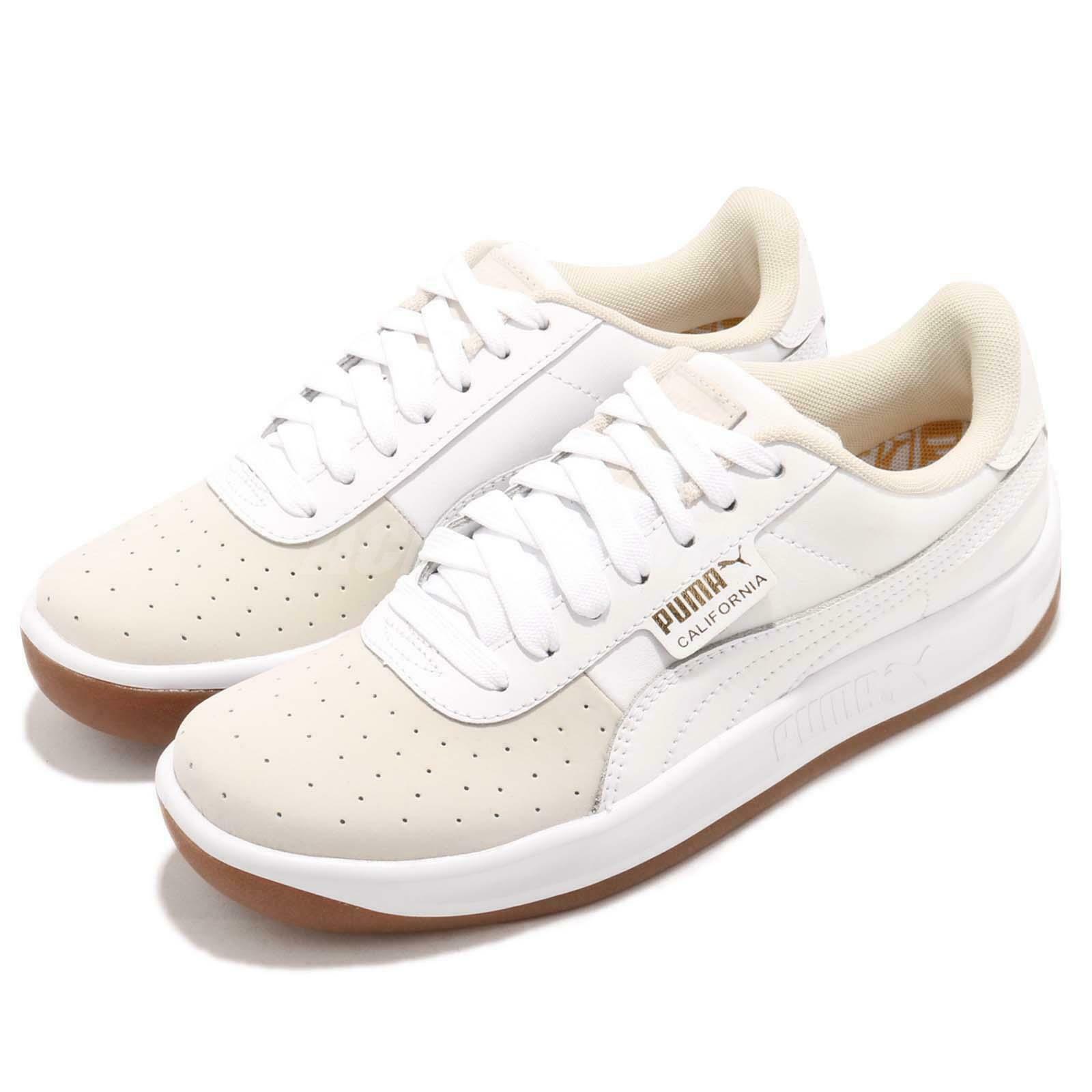 Puma Zapatillas Zapatos para Mujeres de California Exotic blancoo Dorado Gum 368135-01 Nuevo
