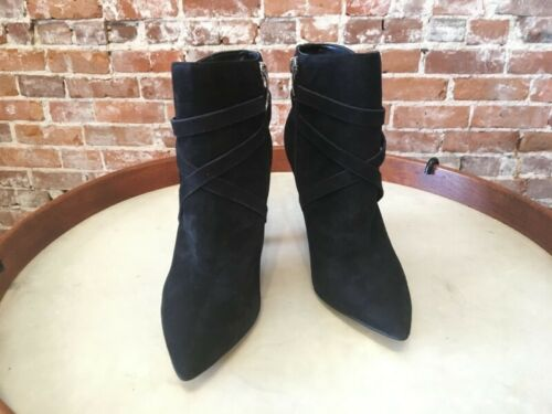 Details about  /Marc Fisher Fanatic Black Suede Pointed Toe High Heel Zip Up Ankle Boots NEW