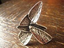 avantgardistischer edler Statement Ring Designer Leonardi Arte alt - silber