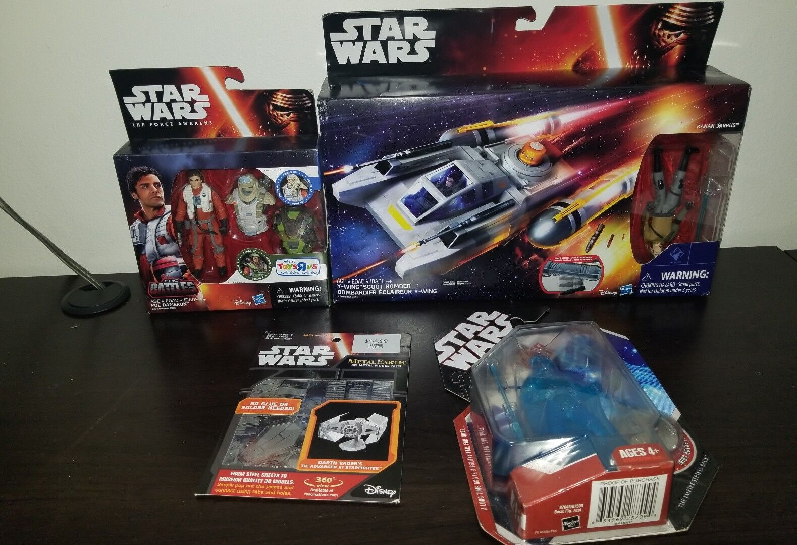 HASBRO STAR WARS Y-WING SCOUT BOMBER , epic battles , darth vader,  metal earth