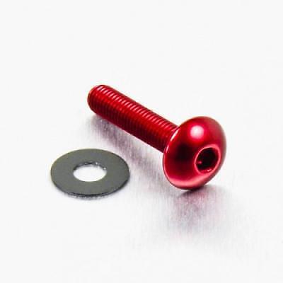 Tornillo de aluminio cabeza redondeada M5 x x 20mm rojo LFB520R 0.8mm