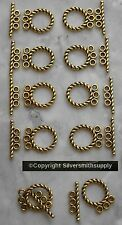 10 Rope toggle jewelry clasps 3 strand gold plated necklace bracelets fpc352