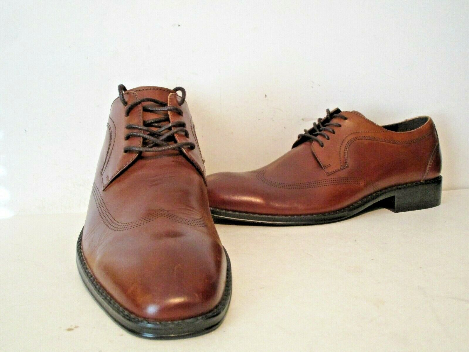 Kenneth Cole Reaction Mens Reason Casual Dress Oxford Shoes Cognac Size 7 M