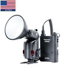 US Godox AD-180 180W Flash Outdoor Speedlite PB960 Battery Power Pack Kit  Black